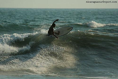 Surfing in Las Penitas