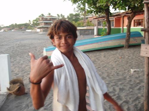Local surfer Patricio